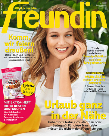 "Angelika Berndt photography published in ""Freundin"", German women's magazine"
