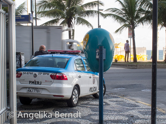 Police in the streets of Rio de Janeiro, Brazil