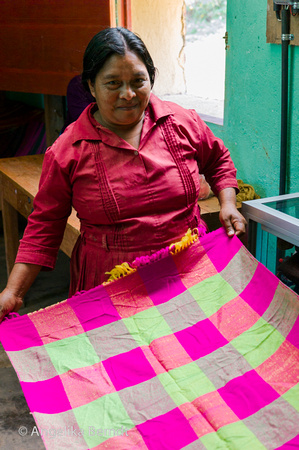 Lenca traditional weaving, Honduras, 2014